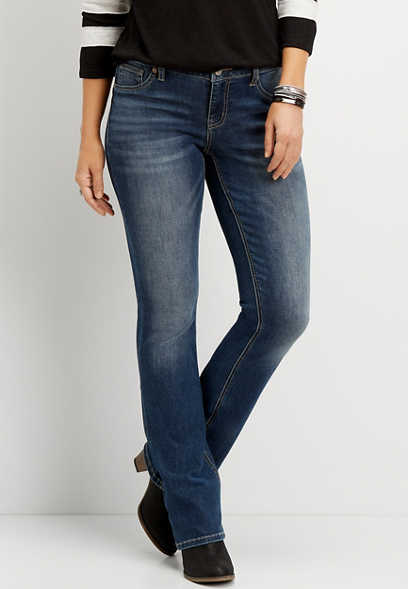 DenimFlex™ medium wash slim boot jegging