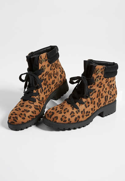 Whitney leopard hiker boot