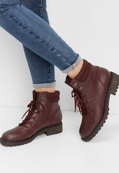 Whitney solid hiker ankle boot
