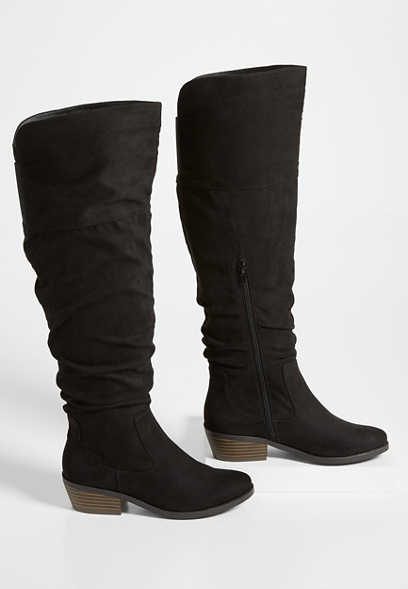 Debbie tall scrunch boot
