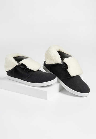 Betty high top sherpa trim sneaker