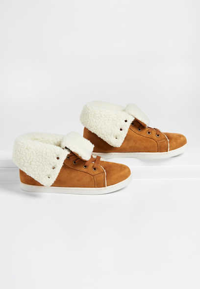 Bria high top sherpa trim sneaker