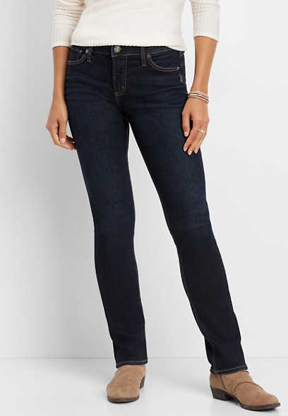 Silver Jeans Co.® Avery high rise dark wash straight leg jean