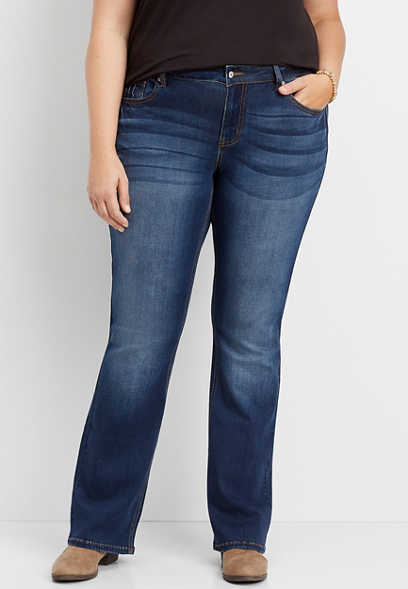 plus size KanCan™ high rise dark wash bootcut jean