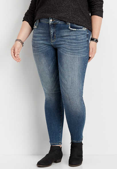 plus size KanCan™ medium tint skinny jean