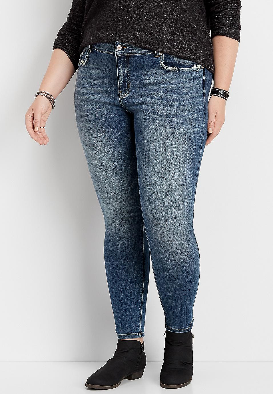 Plus Size Kancan Medium Tint Skinny Jean Maurices