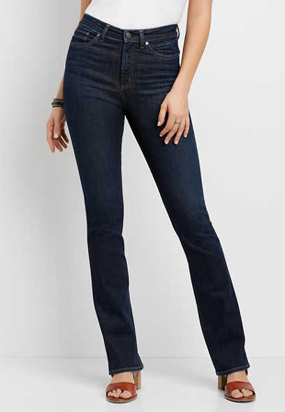 Silver Jeans Co.® Calley Super High Rise Dark Slim Boot Jean