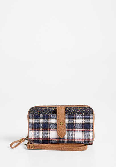 plaid phone case wristlet