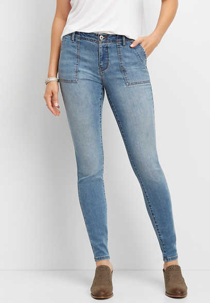 DenimFlex™ Medium Wash Utility Jegging