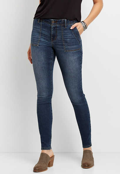 DenimFlex™ Dark Wash Utility Jegging