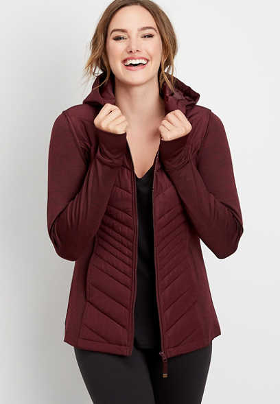 long sleeve active puffer jacket