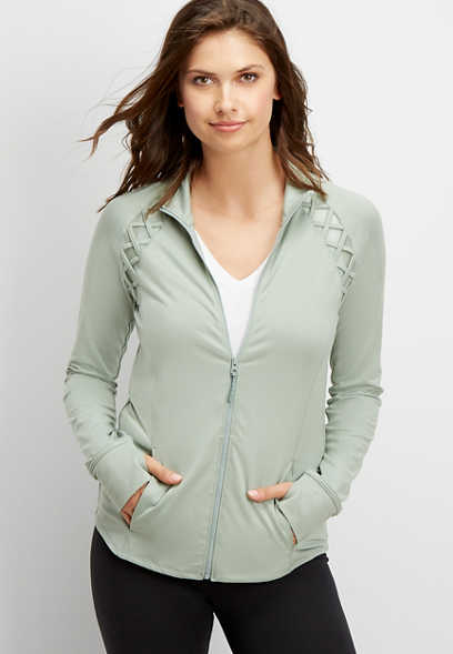 lattice active zip up jacket