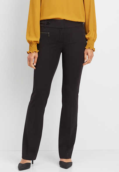 legacy black zip pocket bootcut pant