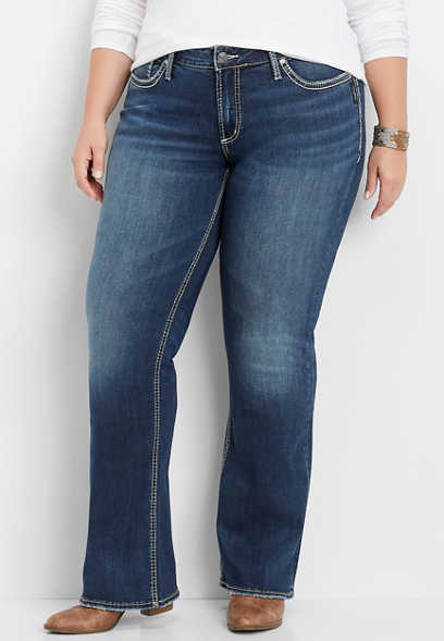 plus size Silver Jeans Co.® Suki dark wash bootcut jean