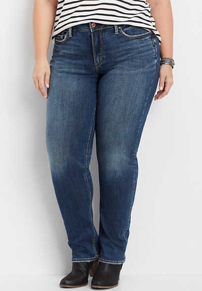 plus size Silver Jeans Co.® Avery high rise straight leg jean