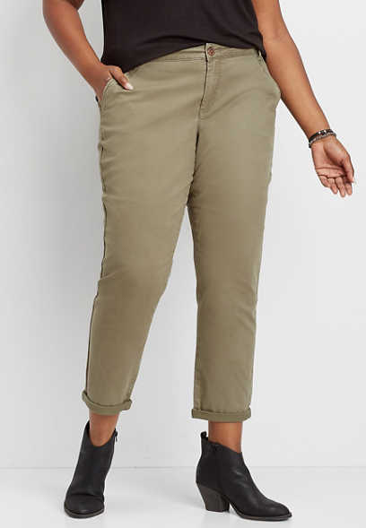 plus size slouchy chino pant