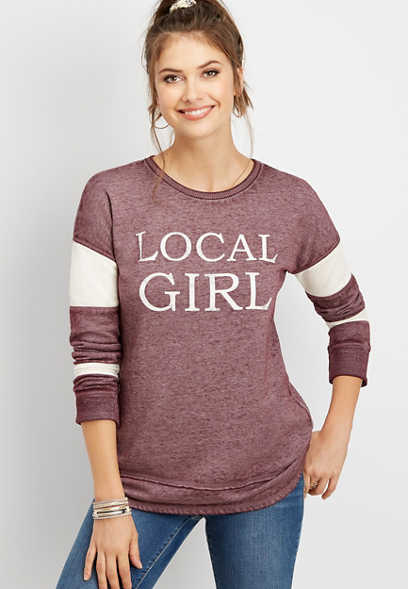 local girl pullover sweatshirt