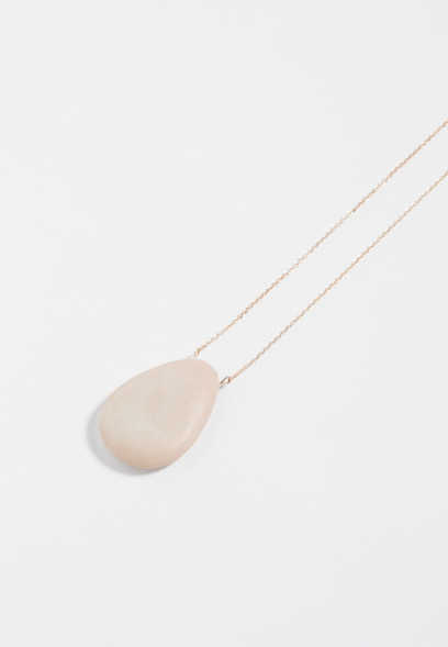 pink oval pendant necklace