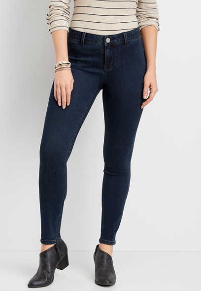 DenimFlex™ high rise dark wash clean front jegging