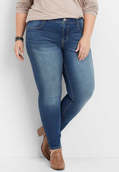 plus size DenimFlex™ super soft medium blasted jegging
