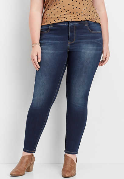 plus size DenimFlex™ super soft dark wash jegging