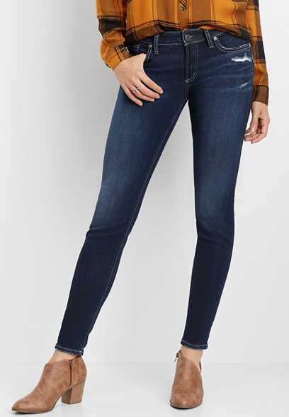 Silver Jeans Co.® Suki faux flap pocket skinny jean