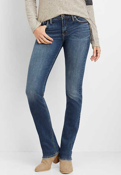 Silver Jeans Co.® Avery high rise straight leg jean