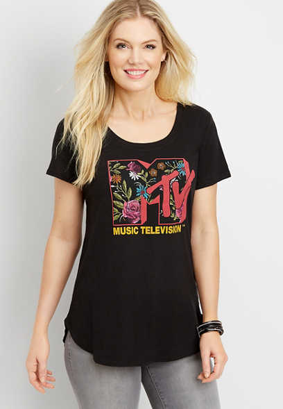 MTV floral graphic tee