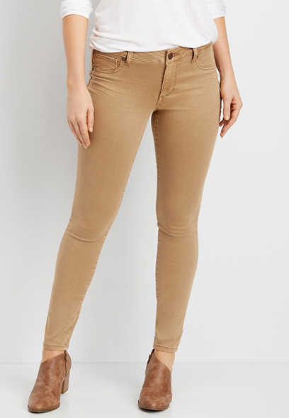 DenimFlex™ super soft light tan color jegging