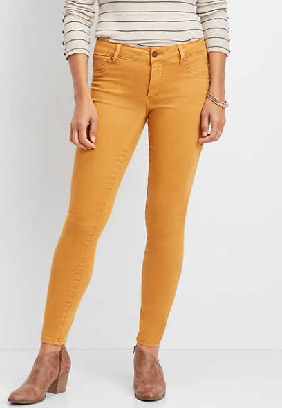 DenimFlex™ super soft honey spice color jegging