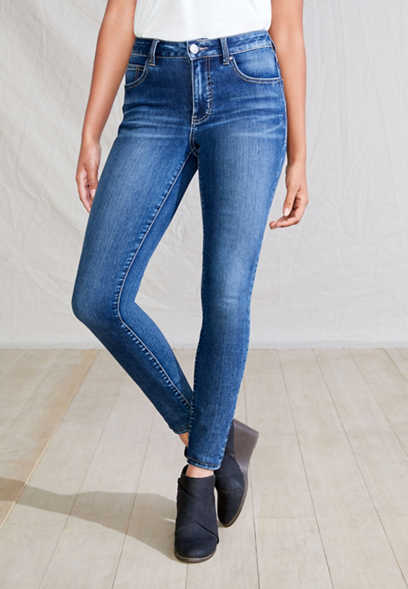 Everflex™ high rise medium wash stretch skinny jean