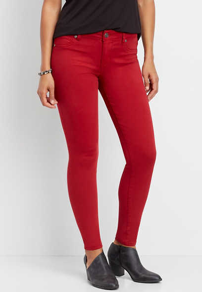 DenimFlex™ rebel red color jegging