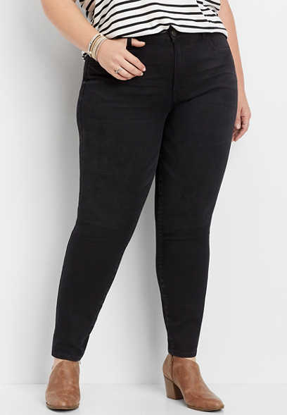 plus size KanCan™ high rise black washed skinny jean
