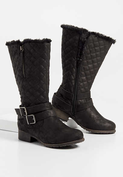 Deena quilted tall boot