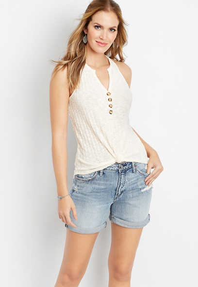 Silver Jeans Co.® Sam light wash boyfriend short