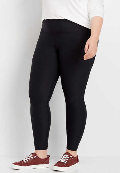 plus size side panel sculpt legging