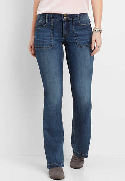 DenimFlex™ utility pocket medium slim boot jean