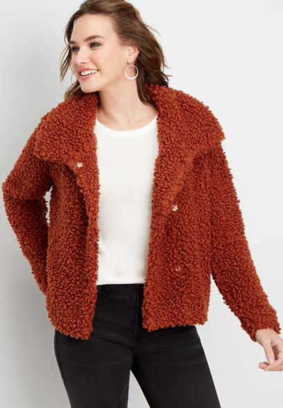 solid sherpa jacket