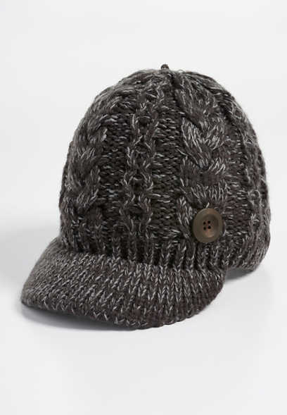 cable knit cabbie hat