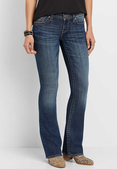 Vigoss® dark wash bootcut jean