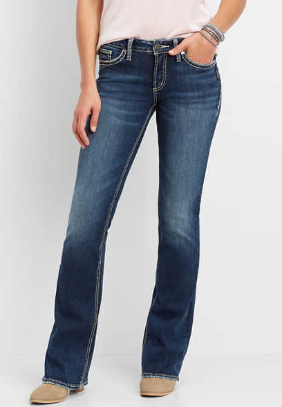 Silver Jeans Co.® Suki dark wash thick stitch bootcut jean