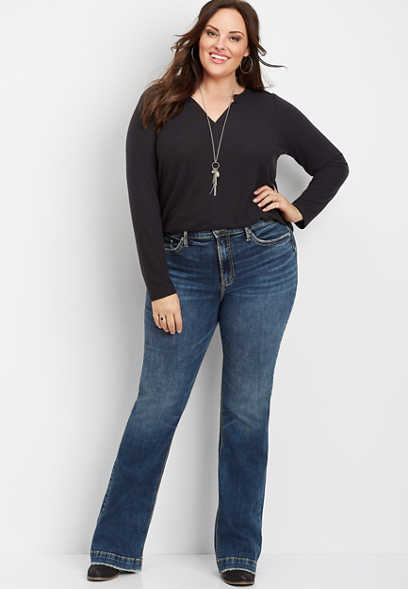 plus size Silver Jeans Co.® Calley super high rise bootcut jean
