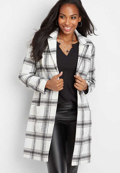 plaid duster jacket
