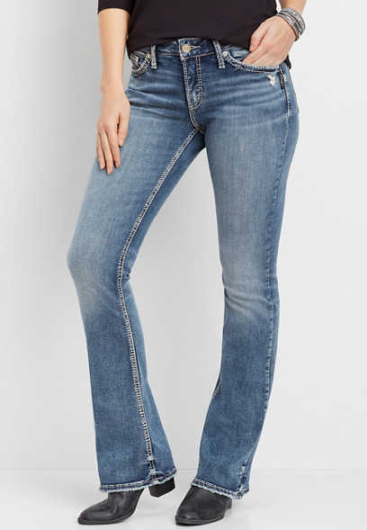 Silver Jeans Co.® Elyse thick stitch bootcut jean