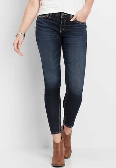 Silver Jeans Co.® Suki dark wash thick stitch skinny jean