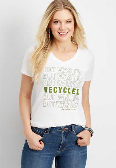 recycled not wasted graphic tee