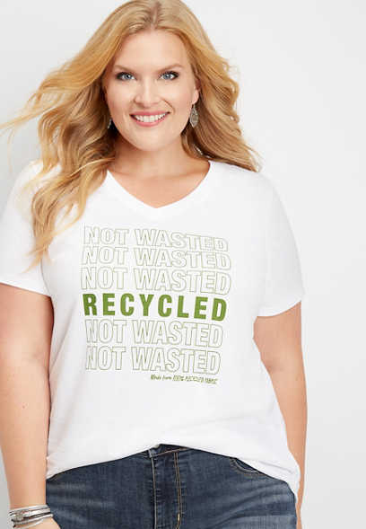 plus size recycled not wasted graphic tee