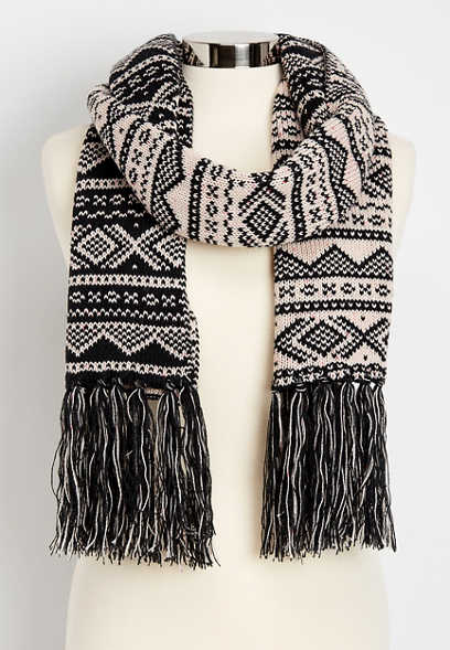 fair isle oblong scarf