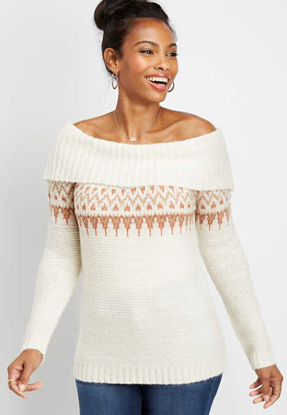 fair isle marilyn neck pullover