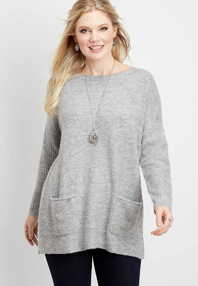 oversized pocket pullover